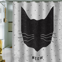 DENY Designs Home Accessories | Wesley Bird Meow Shower Curtain