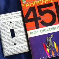 Fahrenheit 451 Switch Plate / Outlet Cover