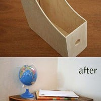 DIY Ideas / Wooden Magazine rack into a cool shelf