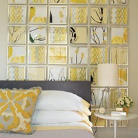 DIY Ideas / Picture Frames + Scrap Book Paper =  Amazing wall Decor!