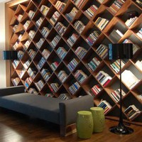 DIY Ideas / How to live with books- This would be perfect for all those magazines we just can't part with! Love it!