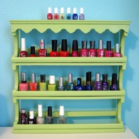 Nifty / Store nail polish in a spice rack- great idea!