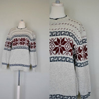 Vintage Snowflake Sweater / 1980s Continental by WayfaringMagnolia