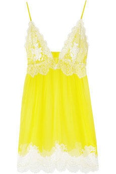 Jenny Packham | Chantilly lace and silk-chiffon chemise | NET-A-PORTER.COM