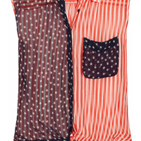 Equipment | Diem stars and stripes-print silk-georgette shirt | NET-A-PORTER.COM