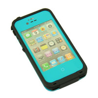 Baby Blue Waterproof Shockproof PC Dirt Proof Case Cover For iPhone 4 4S