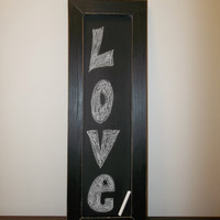 Long Vintage Painted Chalkboard Sign by WannaChalk on Etsy