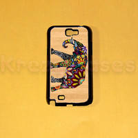 Samsung Galaxy Note 2 case,Elephant on wood print (This is not wood case)  Samsung Galaxy Note 2 case For your Samsung Galaxy Note 2