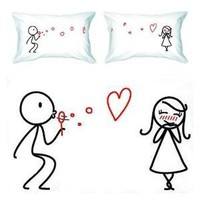 "BoldLoft ""From My Heart to Yours"" Couple Pillowcases-Romantic Valentine's Day Gifts for Couples, Cute Valentines Gifts for Him or Her, Romantic Anniversary Gifts: Home & Garden"