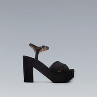 PLATFORM ANKLE-STRAP SANDALS - Shoes - Woman - New collection - ZARA United Kingdom