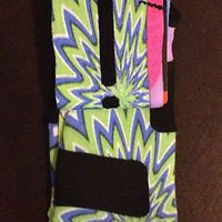 "Nike Elite Socks ""Trippy Mane"" Large Rare Galaxy Foamposite LBJ 10 USA KD 8-12"