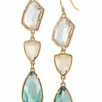 Clear Stone & Epoxy Stone Three Tier Earrings | Pippa Stone Earrings