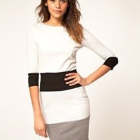 ASOS | ASOS Pencil Dress in Color Block at ASOS