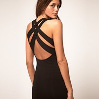 ASOS | ASOS Mini Dress with Cross Back Strap at ASOS