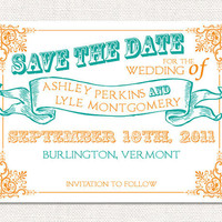 Carnival Circus Wedding Save The Date Cards Invites by TrulyNoted
