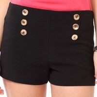 Six-Button Matelot Shorts | FOREVER 21 - 2031557220
