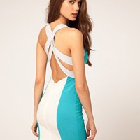 ASOS | ASOS Bodycon Dress with Cross Back at ASOS