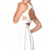 Open Heart Dress in White - ShopSosie.com