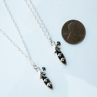 Two Peas in a Pod Necklaces for Sisters, Twins, Best Friends