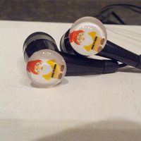 Mini Gnomes Black earbuds