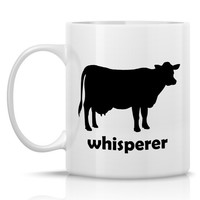Homestead Cows Coffee Mug - Dairy Cow Whisperer: 11-oz. Porcelain Mug - Farm Animal Theme with Dairy Cow