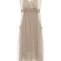 Lela Rose Polka-dot tulle dress – 70% at THE OUTNET.COM