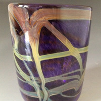 Handmade blown drinking glass cup tumbler by HorkoverGlass on Etsy