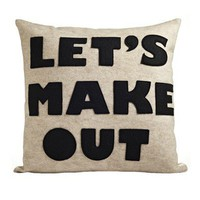 Let's Make Out Pillow - Pillows - Bedding