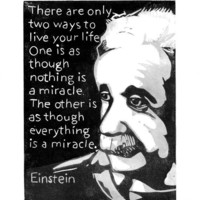 Albert Einstein Quote Block Print There are by SweetGeePrints
