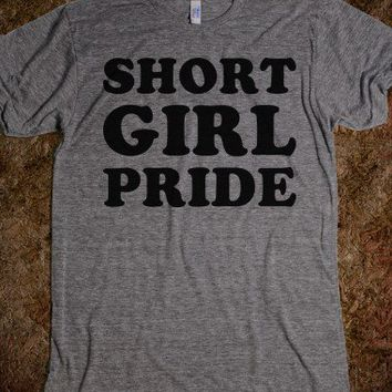 Short Girl Pride-Unisex Athletic Grey T-Shirt