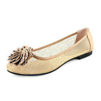 Leatherette Upper Flat Heel FlatsSandals With Rhinestone Party/ Evening Shoes.More Colors Available - $29.88