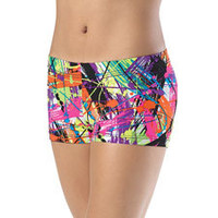 Urban Splash Print Basic Dance Shorts; Balera
