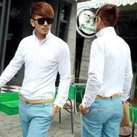 Men Trendy Jumpers Long Sleeve Warm Autumn Winter Button Top