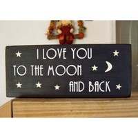 Amazon.com: I Love You to the Moon and Back - Handmade in the USA: Everything Else