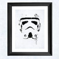 Stormtrooper Star Wars print by purplecactusdesign on Etsy