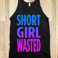 Short Girl Wasted (tank)-Unisex Black Tank