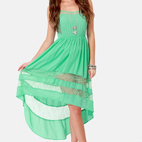 Simply Marvel-Lace Mint High-Low Lace Dress