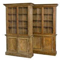 1STDIBS.COM - Susan Silver Antiques - Pair Glazed Bookcases