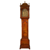 1STDIBS.COM - Florian Papp Inc. - Mid 18th Century Red Lacquered Long Case Clock