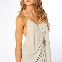 The Manifesto Sexy Racer Tank in Worn Twill
