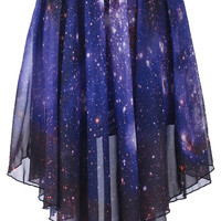 ROMWE | Starry Night Asymmetric Skirt, The Latest Street Fashion
