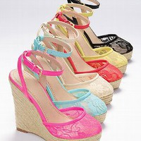 The Lacie Wedge Sandal - VS Collection - Victoria&#x27;s Secret