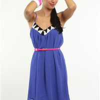 cobalt blue summer dress