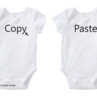 Geek Copy &amp; Paste Identical Twins Cute Baby Funny Humor by bareit