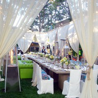 Parties and Events / make an outdoor event intimate with sheer curtains