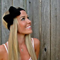 Midnight Black Bow Headband With Na.. on Luulla