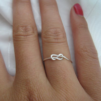 Valentines Day  Infinity Knot RIng by DesignedByLei on Etsy