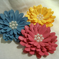 Handmade Gerbera Daisy Paper Flowers Wishing for by JsCraftyStudio