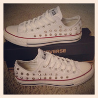 Studded Converse by DonishDesigns on Etsy