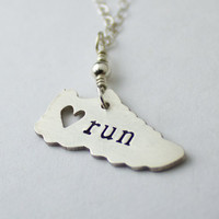 I love running necklace